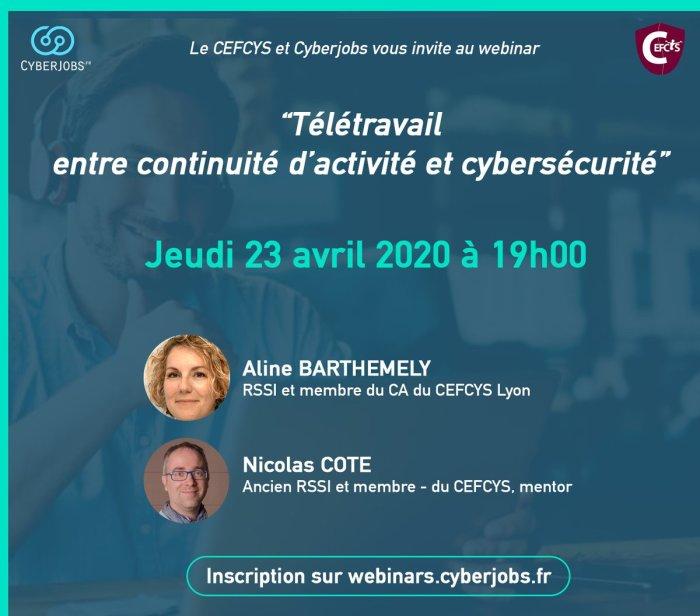 CEFCYS Webinar 23 avril teletravail et cybersecurité